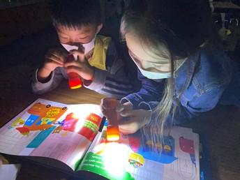 Flashlight Reading in 1st Grade