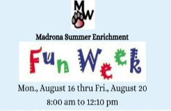 Sign Up for August Fun Week!