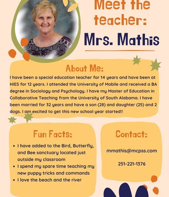 Mrs. Mathis, SPED