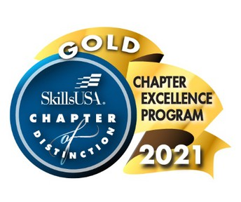 Statesboro Hgh Earns SkillsUSA 2021 Gold Chapter of Distinction Recognition