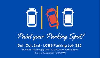 LCHS Parking Spot Painting