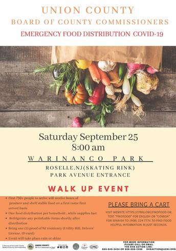 Food Distribution Event- September 25, 2021