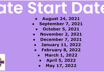 Late Start Schedule for 2021 - 2022 School Year