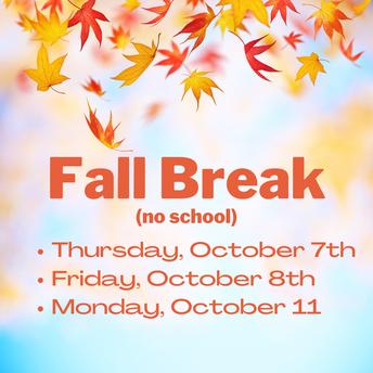 Fall Break - No School