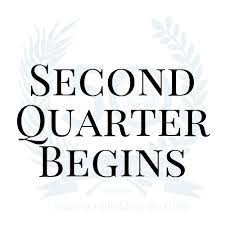 2nd Quarter starting this Tuesday, October 12th- Here are some important tips for you and your child: