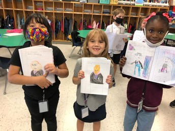 Student Drawings of Mayor Stanfill