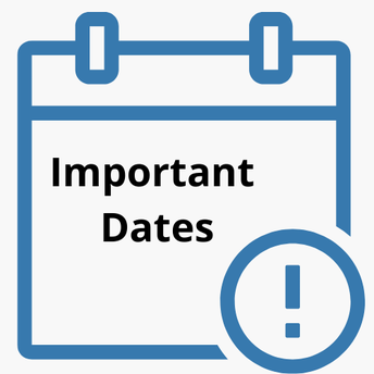Important Back-to-School DATES!