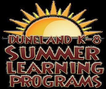 Duneland K-8 Summer School Information
