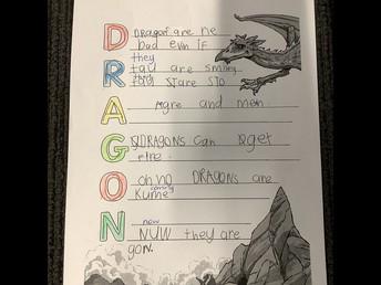 Dragon Acrostic Poem by Mason (R15)