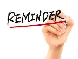 Reminder To Turn In School Instruments