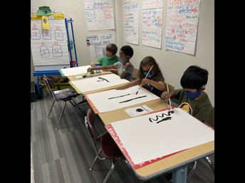 We practiced our painting procedures.