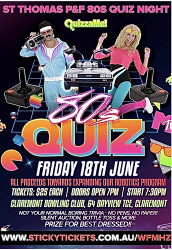 The P&F All Out '80s Quiz Night is here!