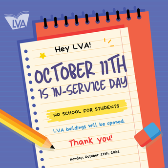 October 11th - No School for Students / Teacher In-service Day
