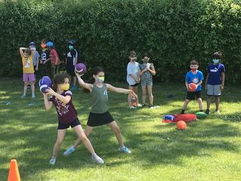 Football toss at Wilmot