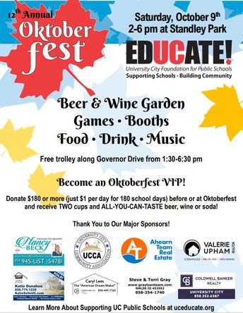 EdUCate Oktoberfest this Saturday, October 9th