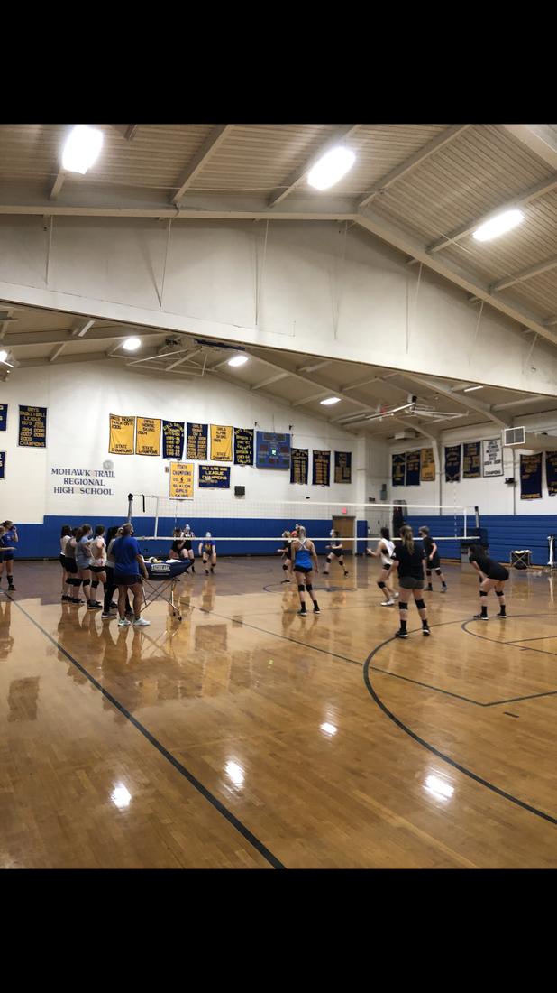Preseason Volleyball Practice