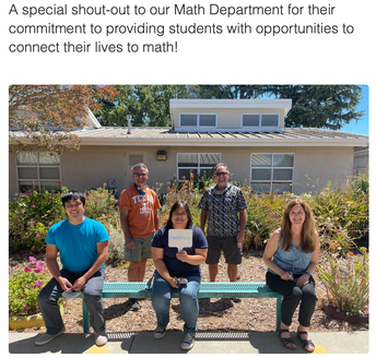 Our amazing Math Department