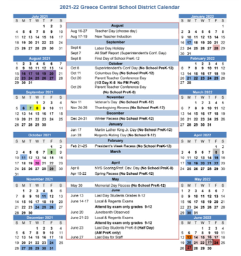 2021-2022 ONE PAGE CALENDAR
