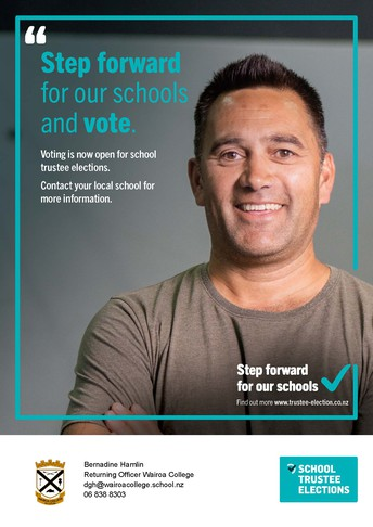 WAIROA COLLEGE BOARD OF TRUSTEES' BY-ELECTION