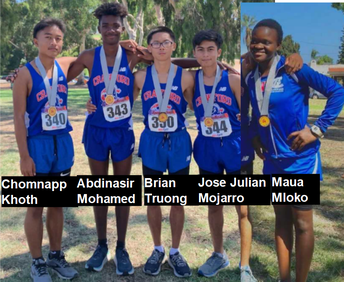 Congratulations to the Cross Country Team