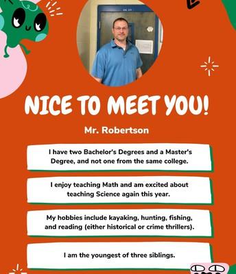Mr. Robertson, 5th Grade