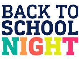 Back to School Night/Noche de regreso a clases