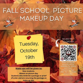 Picture Day Make- Up are October 19th!