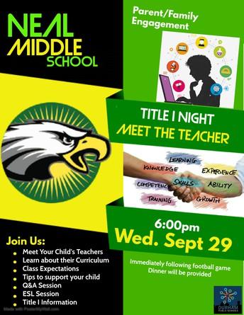 Join us for Meet the Teacher Night