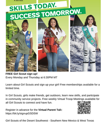 Girl Scout Virtual Parent Talk