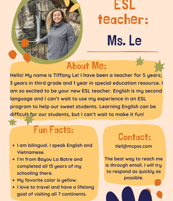 Ms. Le, English Language Learners