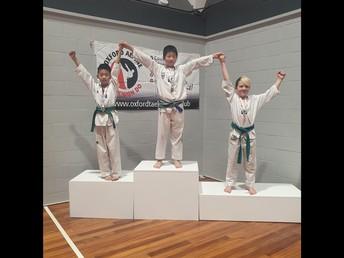 Zihan Hong at the Taekwondo South Island Championships
