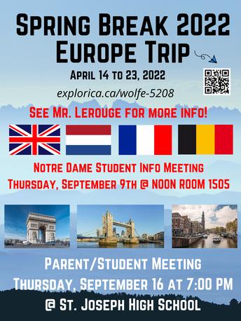 International Travel: Amsterdam, Paris, London