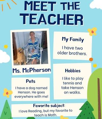 Mrs. McPherson, 1st Grade