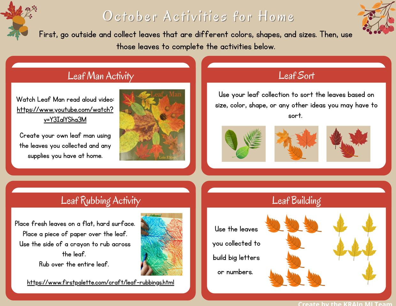 October Home Activities