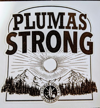 GET YOUR PLUMAS STRONG STICKER