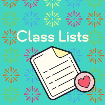 2021-2022 Class Lists