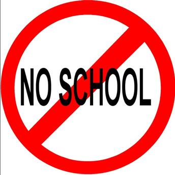 No School on tomorrow!