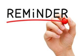 Symptom Monitoring Reminders