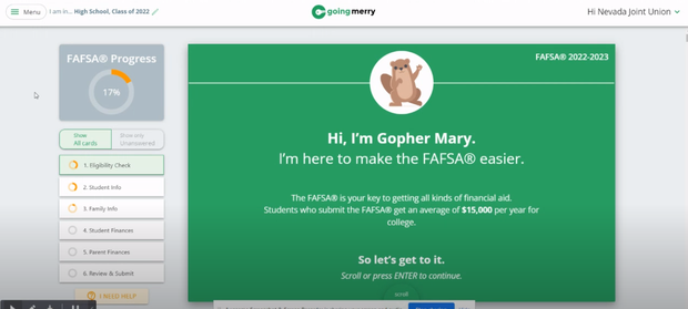 Get Started on your FAFSA with Going Merry!