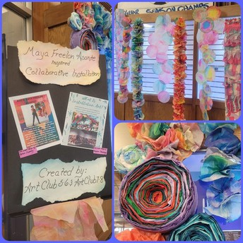 A BEAUTIFUL ART DISPLAY CREATED BY OUR ART CLUB