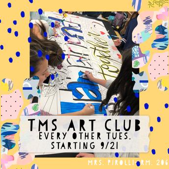 Tamanend Art Club to Kick Off Regular Meetings