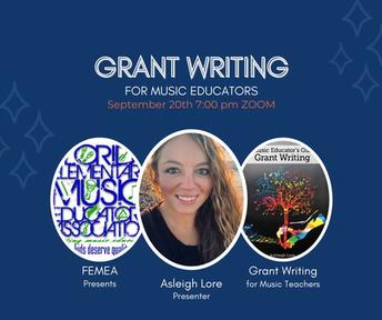 Webinar: Grant Writing for Music Teachers!