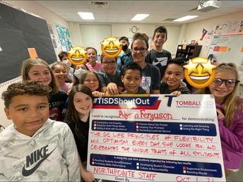 Staff Shout-Out: Mrs. Ferguson