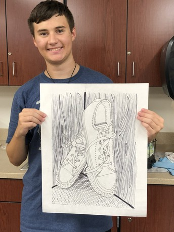 AP Art Students Showing Their Talents