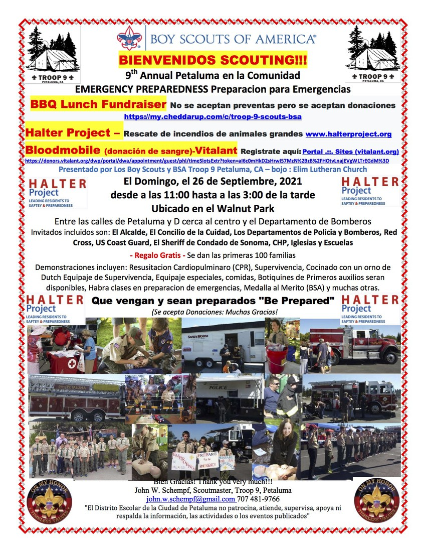 Boy Scouts of America Flyer in Spanish