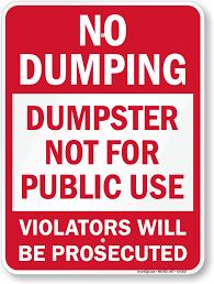 DUMPSTER DUMPING