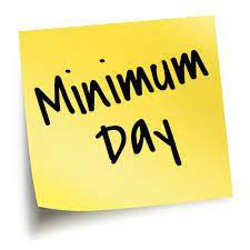 Attention:  Minimum Day on September 3-Mark your Calendars!!