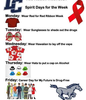 Red Ribbon Week October 25th - 29th