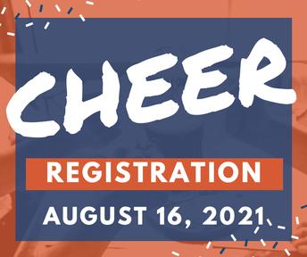 Cheerleading Registration Saturday