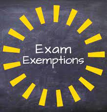 CHS Exemptions from Spring Final Exams 2022